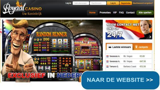 €10 gratis bij Royaal Casino